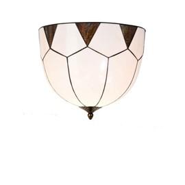 French Art Deco Tiffany Ceiling Lamp Carraway