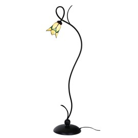 Floorlamp Tiffany Lovely Flower Yellow