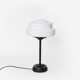 Slim Table Lamp Semi-Round Stepped Globe Moonlight
