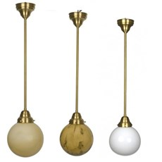 Hanging Lamp Globe in 3 colours and several sizes