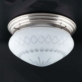 Ceiling Lamp Cut Glass Coupe