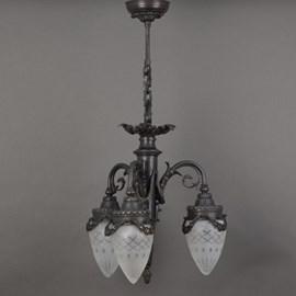 Chandelier Garland 3-Lights Etched