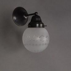 Wall Lamp Cut Glass Globe