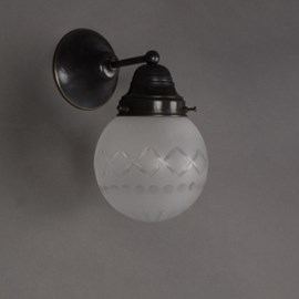 Wall Lamp Cut Glass Globe