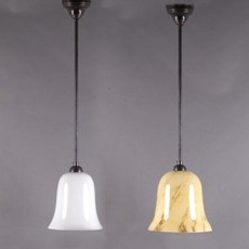 Hanging Lamp Tulip in Opal or Marbled Glass