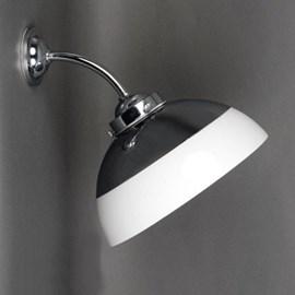 Outdoor/ Large Bathroom Wall Lamp Half Globe Opal Ø 30 cm