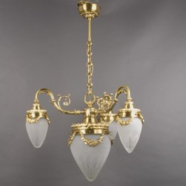 Chandelier Grand Garland with Etched Glass