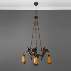 Chandelier with 3 Cupids Slender