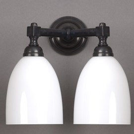 Bathroom Lamp V-Shape with Open Shades