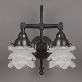Bathroom Lamp Flower with 2 Lights Arch