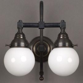 Bathroom Lamp Globe 2-Lights Large Arch