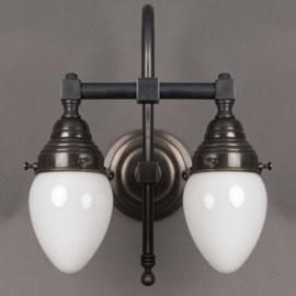 Bathroom Lamp Egg 2-Lights Large Arch
