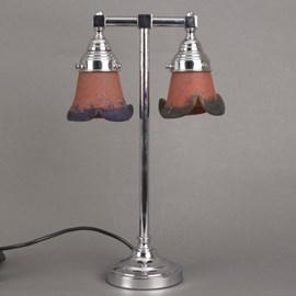 Bathroom Table Lamp 2-Lights Pâte-de-Verre