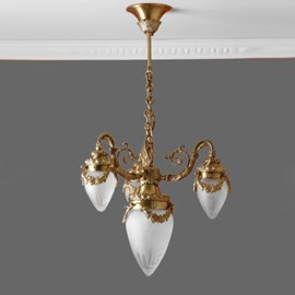 Chandelier Garland 4-Lights Etched Glass