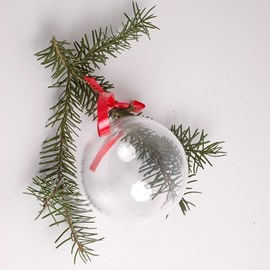 Christmas! Glass Christmas Bauble