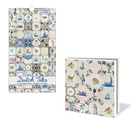 Birthday Calendar & Card Wallet Dutch Tiles