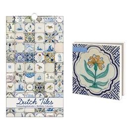 Birthday Calendar & Card Wallet Dutch Tiles