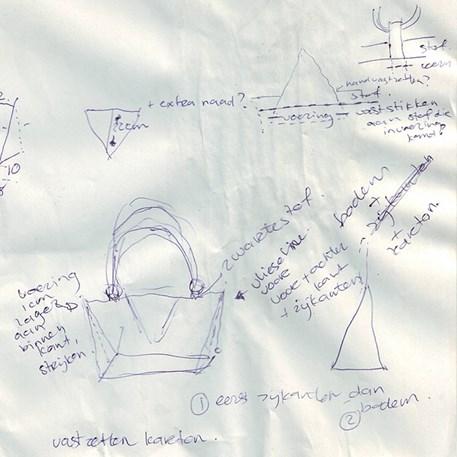 Drawing Design Bag by Nathalie