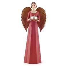 Sculpture/Candle Holder Angel in red