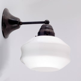 Wall lamp open hoods