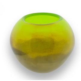 Globe Vase Green & Gold