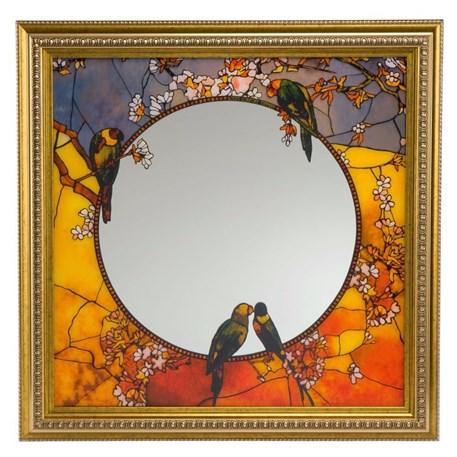 Mirror Tiffany Parrots