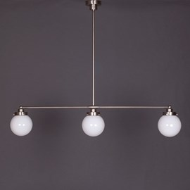 Hanging Lamp 3-Light with Globe in 3 sizes