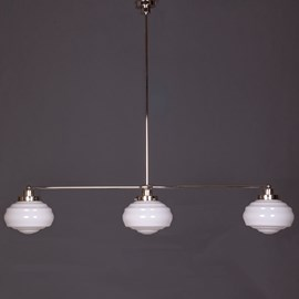 Hanging Lamp 3-Light with Glass Lampshade Alfons