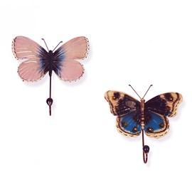 Two Coat Hooks Butterflies Siona