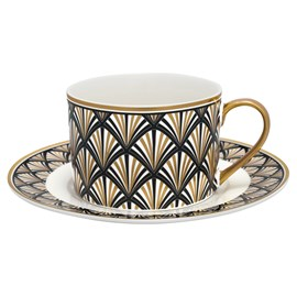 Art Deco Cup and Saucer Gatsby