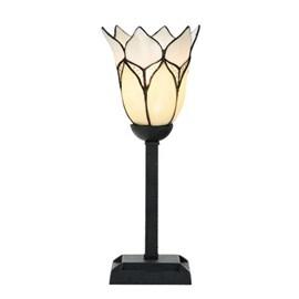 Tiffany Table Lamp Lovely Flower White