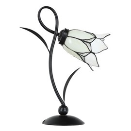 Tiffany Table Lamp Lovely Flower White Romantic