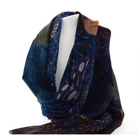 Scarf Klimt 'Woman in Blue'