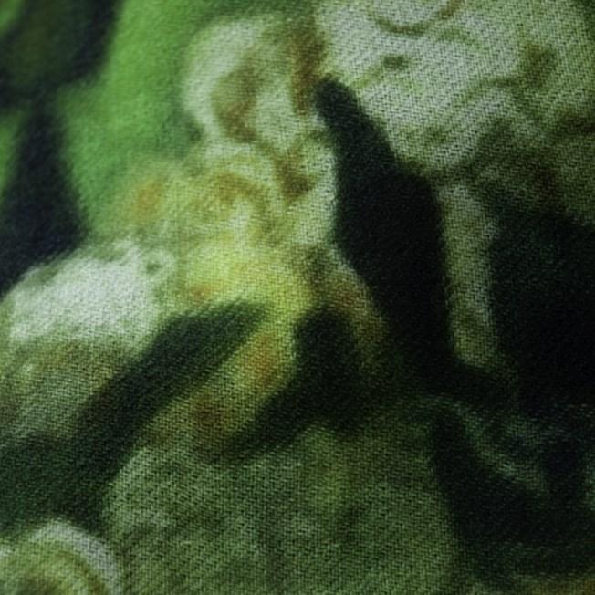 Scarf Van Gogh 'White Flowers in Green'