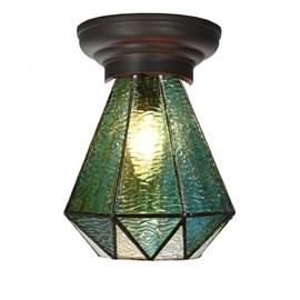 Tiffany Ceiling Lamp Arata Green
